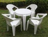 Hot Sale chaise de plastique chaise de salle à manger en plein air Table et chaise chaise empilable