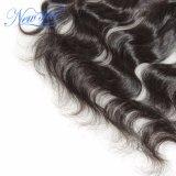 卸し売り安い13X4正面インドボディ波の人間の毛髪