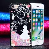 Caixa líquida do Quicksand TPU do Glitter do telefone móvel para o iPhone 7