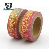 試供品の金ホイルのダイヤモンドデザインWashiのペーパー保護テープ