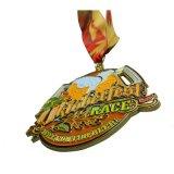 Верхней Части продажи Custom металлического блеска золотая медаль за расы событий