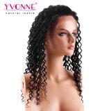 Capelli umani brasiliani dell'onda profonda della parrucca della parte anteriore del merletto di densità di Yvonne 180