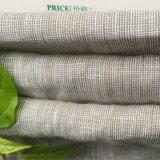 Ropa de lino puro hilo teñido de prendas de vestir, camisa, pantalones, pantalones de tela casual