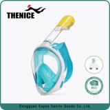 Máscara de mergulho com snorkel face total 180 Ver Máscara de mergulho com Anti-Fog Panorâmica