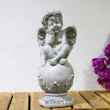 Напольная статуя ребенка статуи украшения сада для сбывания