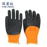 7g orange Terry Nickerchen machende Zwischenlage-schwarzer Latex-überzogene Acrylhandschuhe