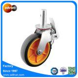 PU-Rad-Fußrolle mit Gesamtbremse für Hochleistungsbaugerüst