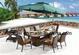 /Rattan ao ar livre/jogo &Table da cadeira do Rattan da mobília /Hotel do jardim/pátio (HS1220C&HS7602DT &HS5003RC)