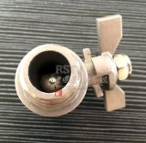 Mariposa de acero inoxidable Mango Rosca Mxf 2PC Válvula de bola