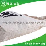 Sac d'emballage normal blanc ordinaire fait sur commande de toile de coton