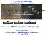 Cintres enduits galvanisés par blanchisserie en gros de fil en métal