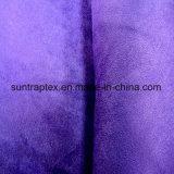 Weiches Veloursleder-Gewebe des Polyester-150d mit Klima gefärbt für Sofa