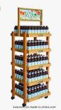 Crémaillère d'étalage extensible modulaire en métal de vin de boisson alcoolisée et de boissons alcoolisées