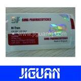 Étiquette colorée de fiole d'or de clinquant de laser d'impression pharmaceutique faite sur commande d'effet