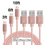 2018 новый продукт нейлоновой оплеткой Micro-USB Дата кабель зарядного устройства для iPhone 7 8 X