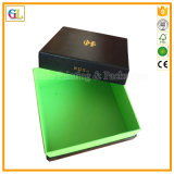 Boîte-cadeau de empaquetage de carton de papier noir (OEM-GL001)