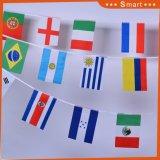 Land-Zeichenkette-Markierungsfahne des Polyester-50 für Russland-Weltcup