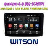 "Witson gran pantalla de 10,2"" de Android 6.0 DVD para coche Peugeot 2008 (alta)"