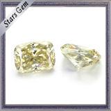 جديد [كنري] أصفر طويل وسادة قطعة [مويسّنيت] حجارة لأنّ نمط مجوهرات