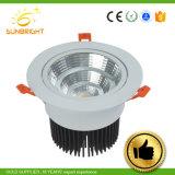 Venta caliente precio barato Downlight LED de luz con la caja de plástico