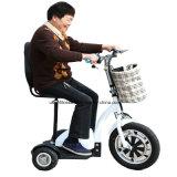 ثلاثة عجلات حركيّة [سكوتر] كهربائيّة عربة درّاجة ناريّة مع [س]