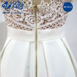 Дамы Sexy ремешок платье мода A-Line кружевной порванный жгут платье скольжения