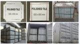 灰色の六角形の建築材料260*300mmの花模様の無作法な磁器の床タイル