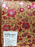 Cuoio d'argento del tessuto del sughero naturale di disegno del reticolo per la decorazione dei sacchetti dei pattini (K18-09)