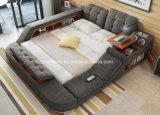 Quarto moderno mobiliário cama colchão tecido Funcional