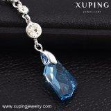 43224 Joyería de moda europea, hermosas mujeres de color azul Collar amante de la Joyería. Hecha con cristales de Swarovski
