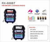FM/AM/SW1-2 4 полосы портативный радиоприемник с USB/TF/АККУМУЛЯТОР/Bluetooth динамик