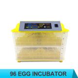 96 incubateurs industriels de poulet d'Autoamtic d'oeufs mini à vendre
