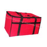 La riga casella di pranzo su ordinazione poco costosa di consegna dell'alimento della pizza trasporta il sacchetto