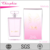 Parfum de bouteille en verre de la forme 100ml de créateur pour la femelle