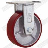 Red roue en polyuréthane roulette avec double roulement à billes de précision