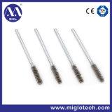 Personalizar el cepillo de alambre de acero industrial engastada tubo cepillo para el desbarbado pulido (TB-100024)