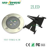 0.5W LED im Freien begrabene Solarlampe mit Ce/RoHS