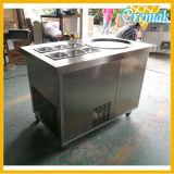 La congélation rapide de la Thaïlande Rouleau en acier inoxydable de la crème glacée pour la vente de la machine