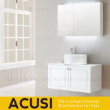 Da laca sanitária da madeira compensada dos mercadorias da parte alta vaidade brancas do banheiro (ACS1-L60)