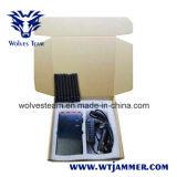 Brouilleur tenu dans la main de fréquence ultra-haute de VHF de 8 brouilleurs GPS d'antenne et de signal de téléphone de 3G 4glte 4gwimax