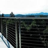 De Post van de Barrières van de Kabel van de Draad van het Traliewerk van het balkon voor Leuning