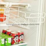 Tipo cremalheira retrátil da gaveta do armazenamento do defletor do refrigerador do frasco de cerveja do gancho