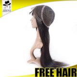 Plein remplacement en soie brésilien de cheveux humains de perruques de lacet de Perruque