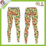 As cuecas do Spandex das mulheres ostentam calças feitas sob encomenda da ioga do Sublimation das calças