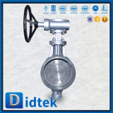 Didtek Pn25 Dn250 Wcb но клапан-бабочка заварки Втройне-Ексцентрическая