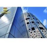 La décoration personnalisée du panneau de façade en aluminium perforé pour revêtement de mur extérieur