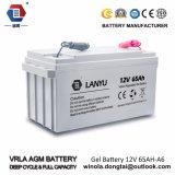 12V перезаряжаемые свинцовокислотная батарея 65ah для UPS
