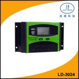 contrôleur intelligent de charge de la batterie de panneau solaire d'écran LCD de 30A 24V