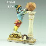 Poojaのヒンズー教の神のKrishna Murtiの赤ん坊のKrishnaの卸し売りインドの彫像