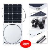 50W el panel solar semi flexible, el panel solar de Sunpower